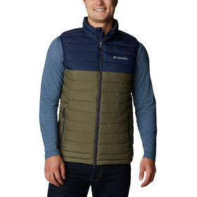 Columbia Powder Lite bodywarmer Heren, stone green/collegiate navy